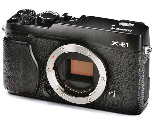 Fujifilm X-E1 Front without lens