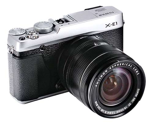 The new Fujifilm X-E1 with 18-55 XF Lens