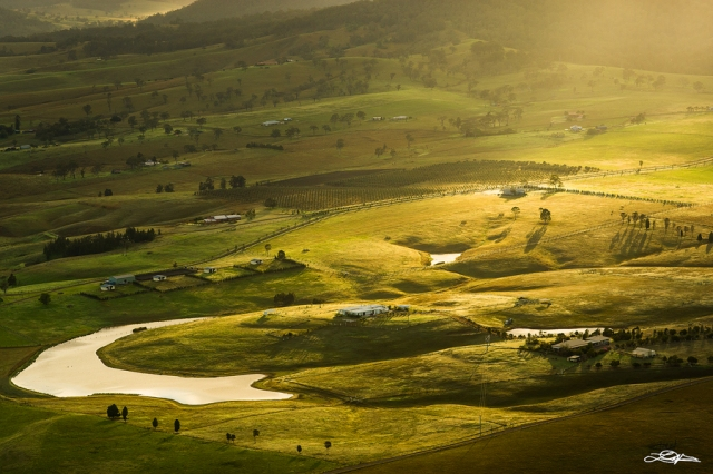 Hunter Valley, New South Wales at sunrise