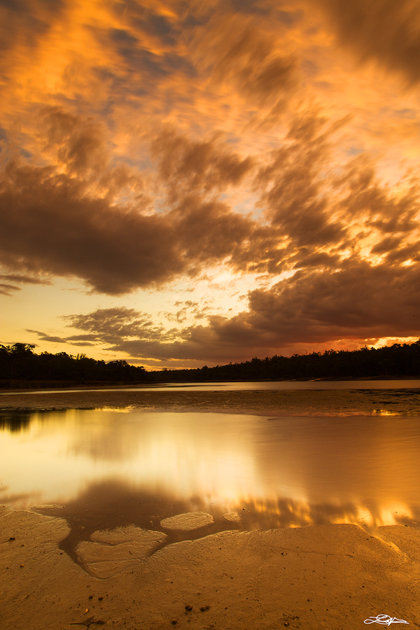 Lake Leschenaultia located in Western Australia photographed at sunset