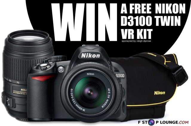 The F Stop Lounge Photo Competition win a Nikon D3100 Twin VR Kit