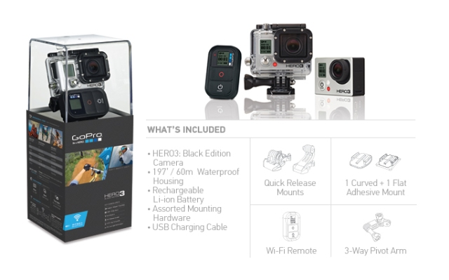 The new Go Pro Hero 3 camera - black edition