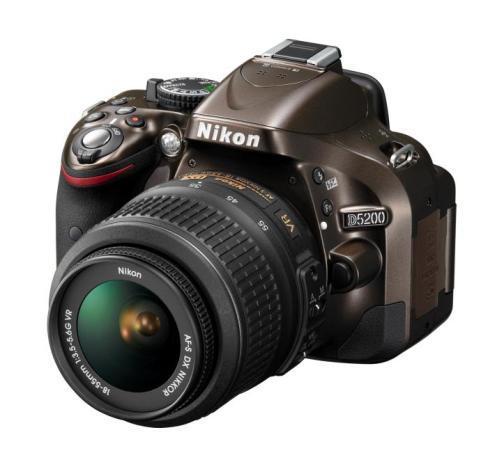 Nikon D5200 with standard kit lens