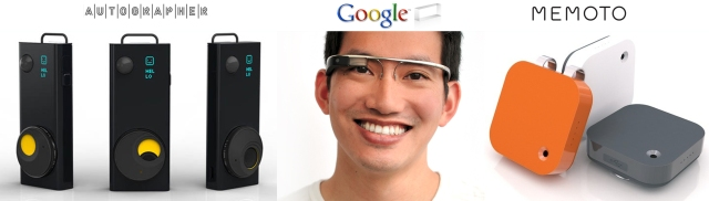 Autographer Google Glass Project Glass and Memoto Wearable Cameras