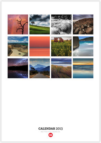 2013 West Australian Landscape Calendar by Leigh Diprose - Back