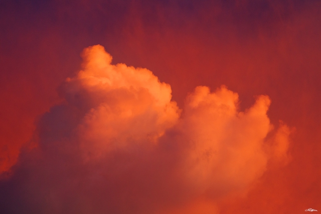 Ethereal clouds at sunset