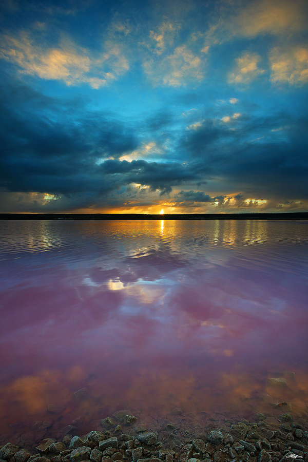 Pink Lake at Port Gregory, Western Australia