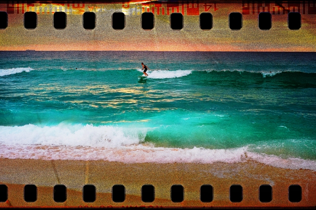 Scarborough Beach Surfer on Film