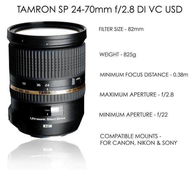 Tamron 24-70mm f-2.8 DI VC USD Specs