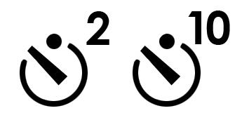 Camera timer symbols