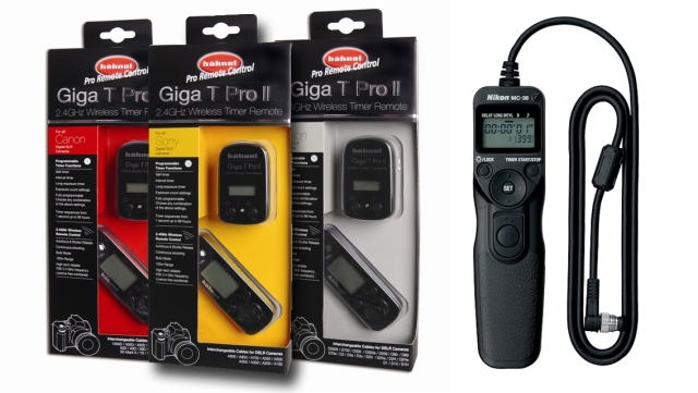 Hahnell Giga T Pro II and Nikon MC-36 remote
