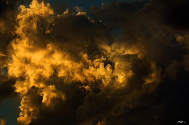 sunlight hitting a cloud